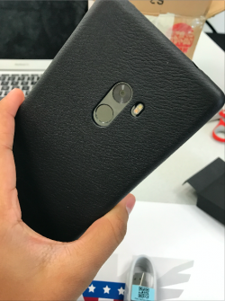 Mi Mix leather case back of phone