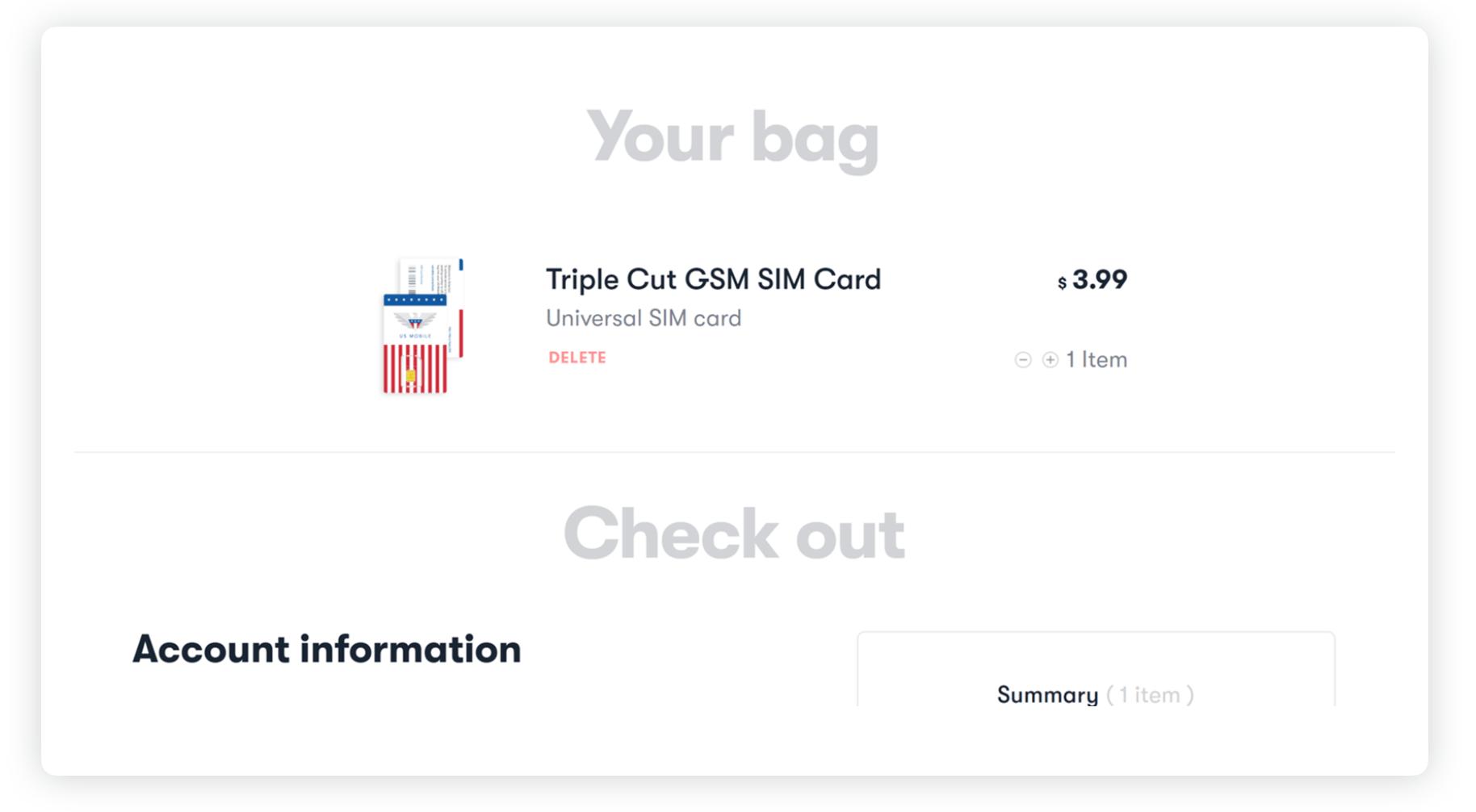 GSM Sim Card Prepaid