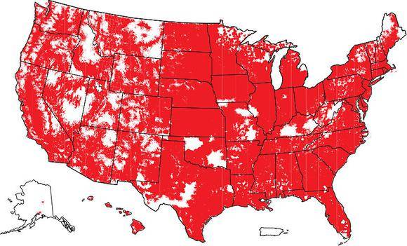 Verizon Coverage Map LTE